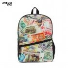 "Mojo ""Paper Money"" Backpack (43x30x16cm) Multi Color"