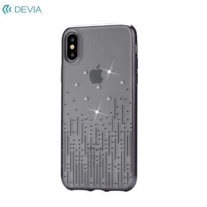 329568aa3 DEVIA Meteor luxury back cover case for Apple iPhone iPhone X / iPhone XS  Black with SWAROVSKI elements - Frog.ee