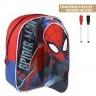 Spiderman backpack with drawing layer