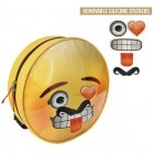 Emoji backpack with stickers 34 cm