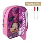 Minnie Mouse backpack with drawing layer