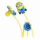 ME Original Minions Shape Kids w/o Mic Earphones 1.2m Cable 3.5mm Yellow