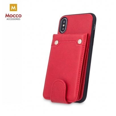 new products 17bc6 bd79d Mocco Smart Wallet Eco Leather Case - Card Holder For Apple iPhone XR Red