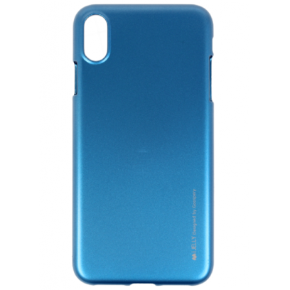 half off 7fc50 7ccbe Mercury i-Jelly Back Case Strong Silicone Case With Metallic Glitter for  Apple iPhone XR Blue