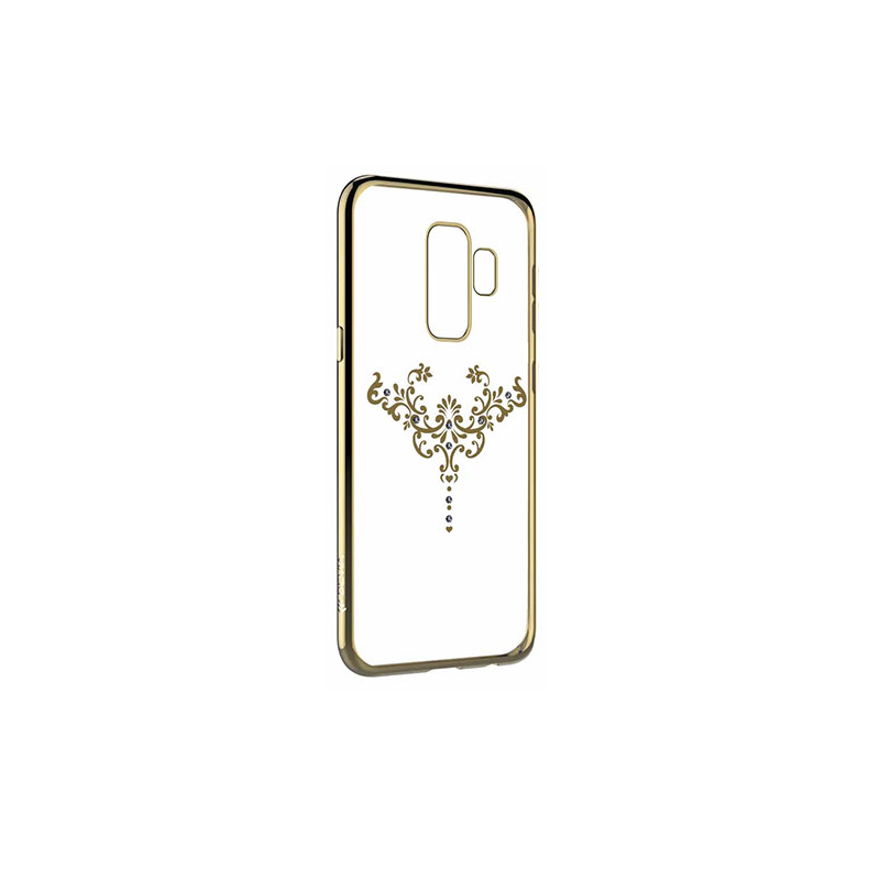 Devia Crystal Iris Silicone Back Case With Swarovsky Crystals For Samsung  G960 Galaxy S9 Gold