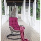 Hanging chair TEMPIO with cushion 96x96xH198cm, color: grey