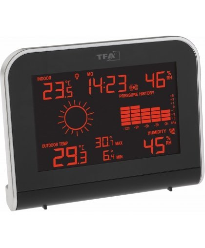Finnish Thermometer 8233 weather station with color display