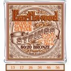 Ernie Ball Strings EB-2002 Earthwood Medium akustilise kitarri jaoks