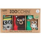 Zoocchini Forest Chums Training Pants S, 3 pcs, for boys 2-3 years
