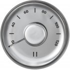 Casual Sauna thermometer, steel, round